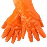 Перчатки рыбацкие оранжевые